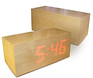 Cool LED Clock Made of Wood
