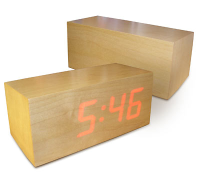 LED Wood Clock