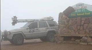 Autonomous Jeep Climbs Pikes Peak