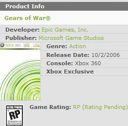 Gears of War Release Date Leaked by Microsoft?