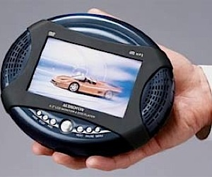 World's Smallest DVD Player With Built in Screen