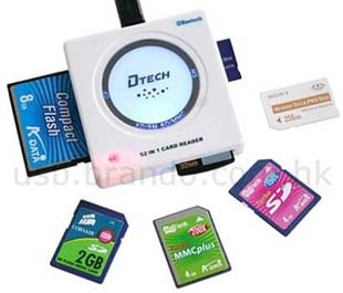 DTech 52 in 1 Memory Card Reader