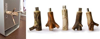 Another Wacky USB Memory Stick – Made Out of Wood