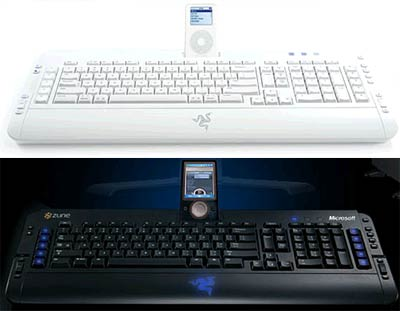 Keyboards With Integrated iPod / Zune Docks