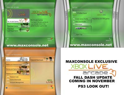 Xbox 360 November Dashboard Update Details