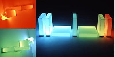 Color Changing LED Shelves