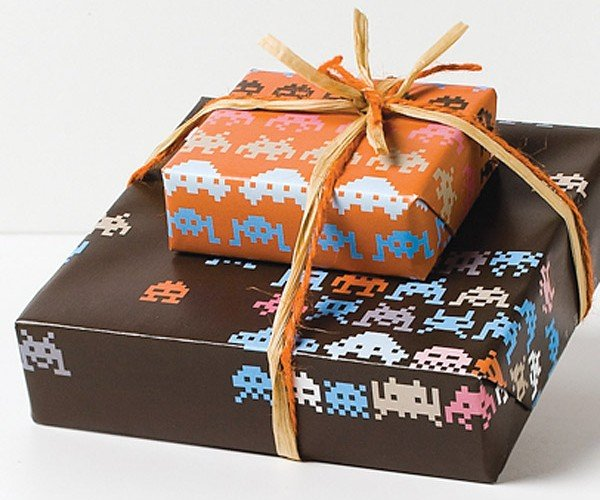 Space Invaders Gift Wrap