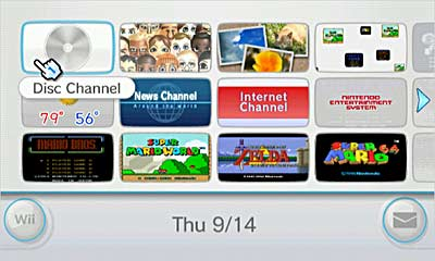 Wii Channels Interface