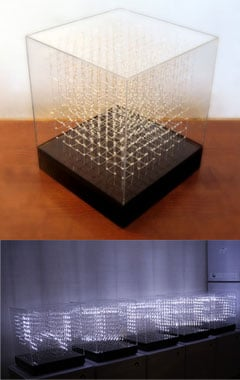 James Clar 3d LED Display Cube