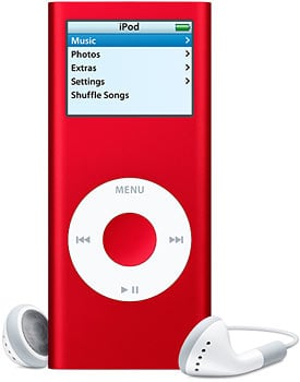 ipod product red nano
