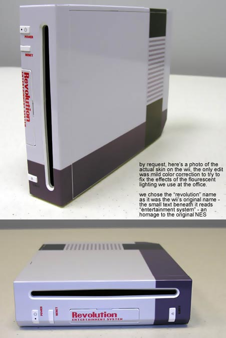Retro NES Skin for the Nintendo Wii
