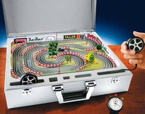 Slot Car Aluminum Briefcase
