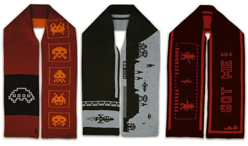 Classic Arcade Game Scarves: Keep Warm, Look Cool