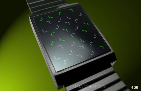 LED Wristwatch Looks Cool, Impossible to Read