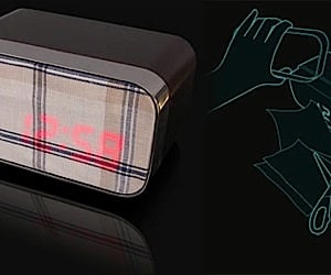 Fabric LED Clock Changes With Your Decor
