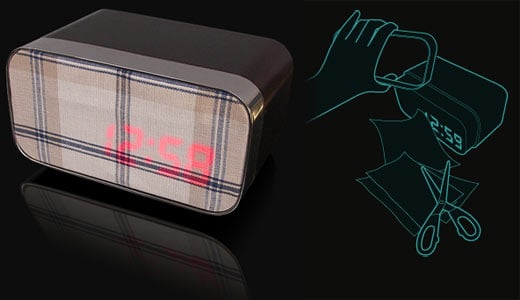 Fabric Alarm Clock