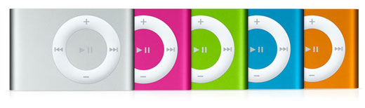 Apple iPod Shuffle 2G in Colors
