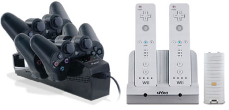 NYKO Wii and PS3 Charging Cradles