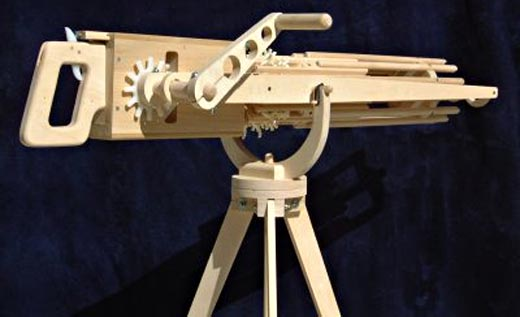 Wooden rubber band machine gun plans FL