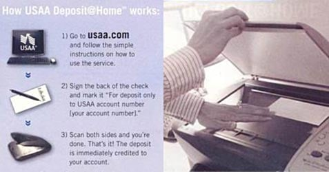 USAA Deposit at Home Scanner