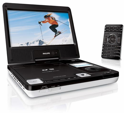 Philips Dcp850 Portable DVD Features Built in iPod Dock