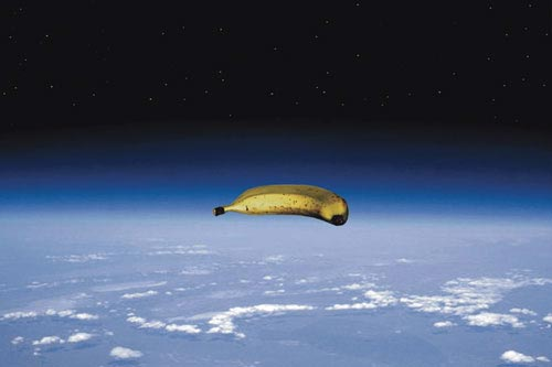 Giant Banana in Space over Texas