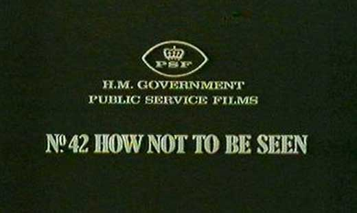Halo Meets Monty Python: How Not to be Seen
