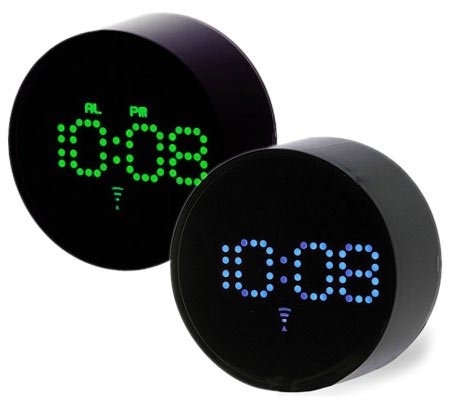 IDEA Blue Green Dot LED Alarm Clocks