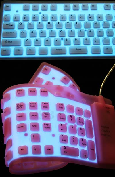 USB Illuminated Roll-Up Keyboard