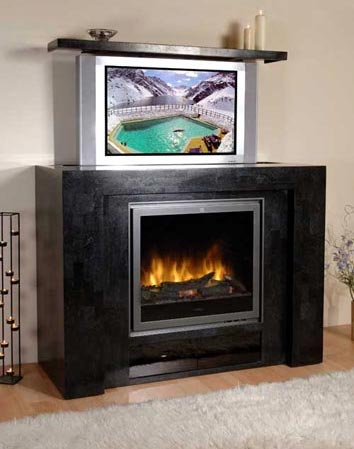Hide Your Flat Screen Tv in Your Fireplace