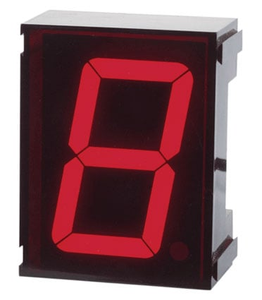Single Digit LED Clock: Perfect for Cyclops