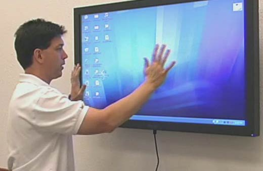 The Touchless Touchscreen Monitor