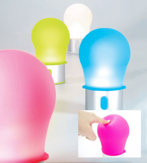 Lexon Tykho Bulb Lamps Make Light Squishy