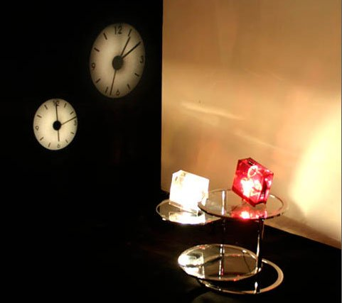 Projector Clock by I.D.E.A. in Use