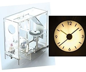 See Through Clock Projects the Time