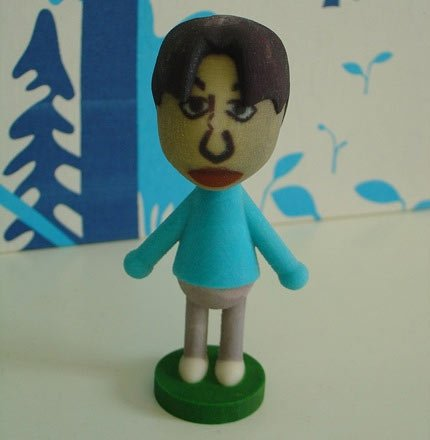 Zach Braff Mii Avatar in 3d by Fabjectory
