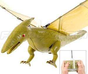 Radio Controlled Pterodactyl Flaps Wings to Fly