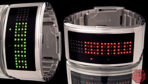 Giordano Curve LED Watch Turns Time on Its Side