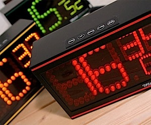 Metro Retro LED Dot Clocks
