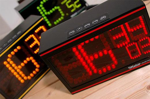 Metro Retro LED Dot Clocks