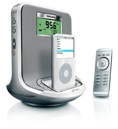 Philips AJ300D Clock CD iPod Radio