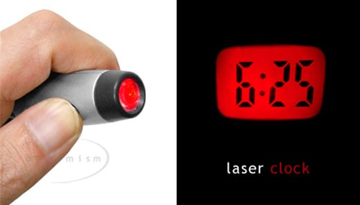 Pocket Laser Clock Projects Time Anywhere
