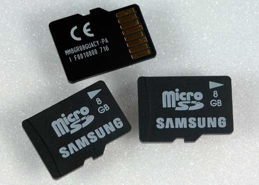 Samsung 8GB microSD cards