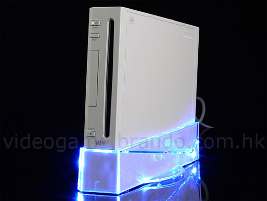 Wii Crystal Cooler Stand: Today's Blue Light Special