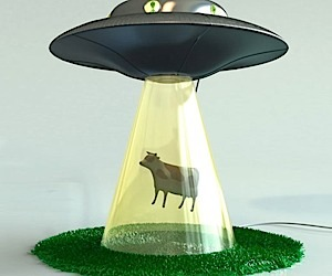 Alien Abduction Lamp is Just Brilliant