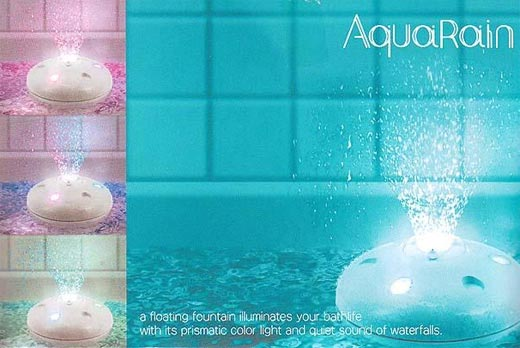 AquaRain Bathtub Fountain and Light Show