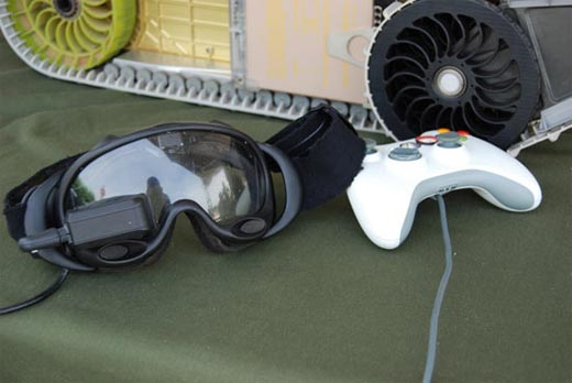 Army SUGV with Xbox 360 Controller Detail