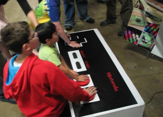 Giant NES Controller in Action
