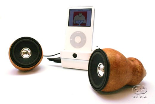 IPod Speakers Made From Gourds