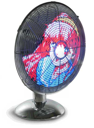 Fan Displays Moving Images on Spinning Leds